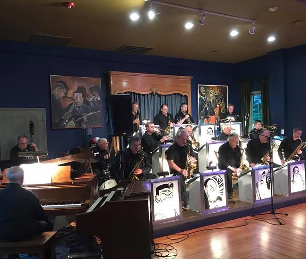 The Long Island Jazz Orchestra performing at a Long Island night club.