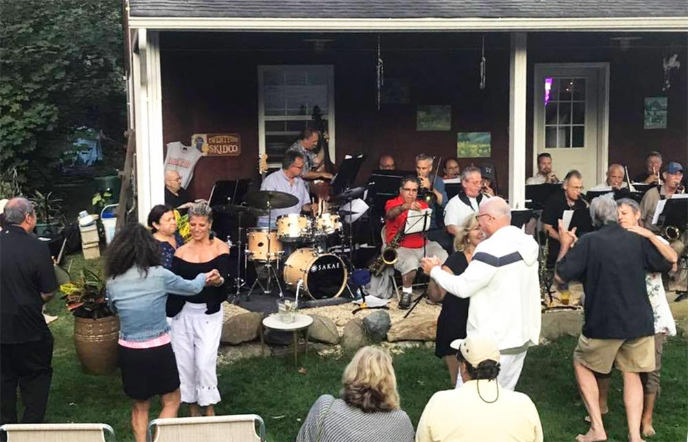 The Long Island Jazz Orchestra performing for an outdoor dinner dance.