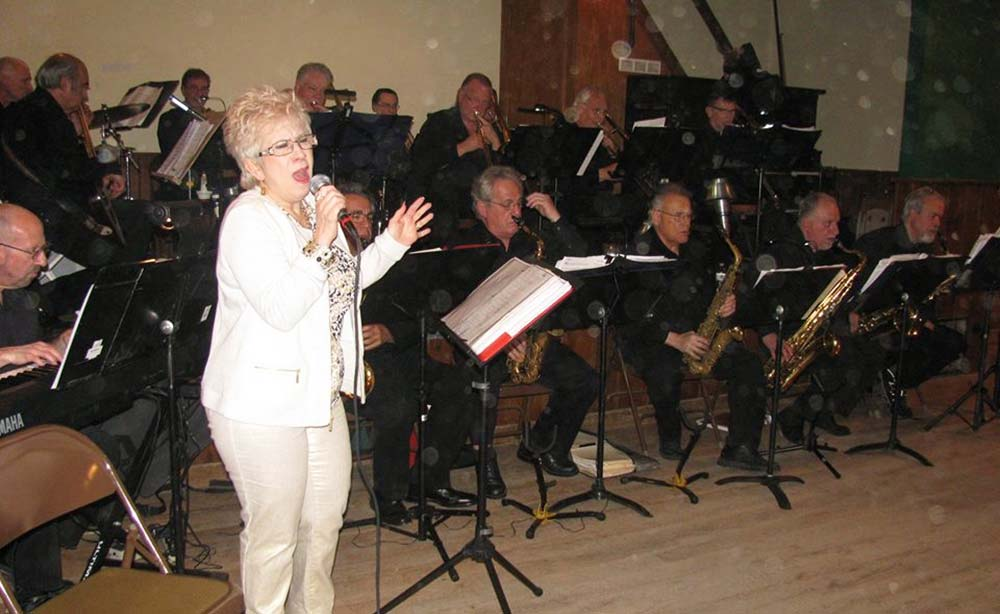 The Long Island Jazz Orchestra performing with vocalist Linda Catania.