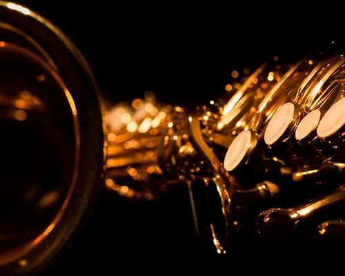 Selmer markVI alto saxophone laid on its side.